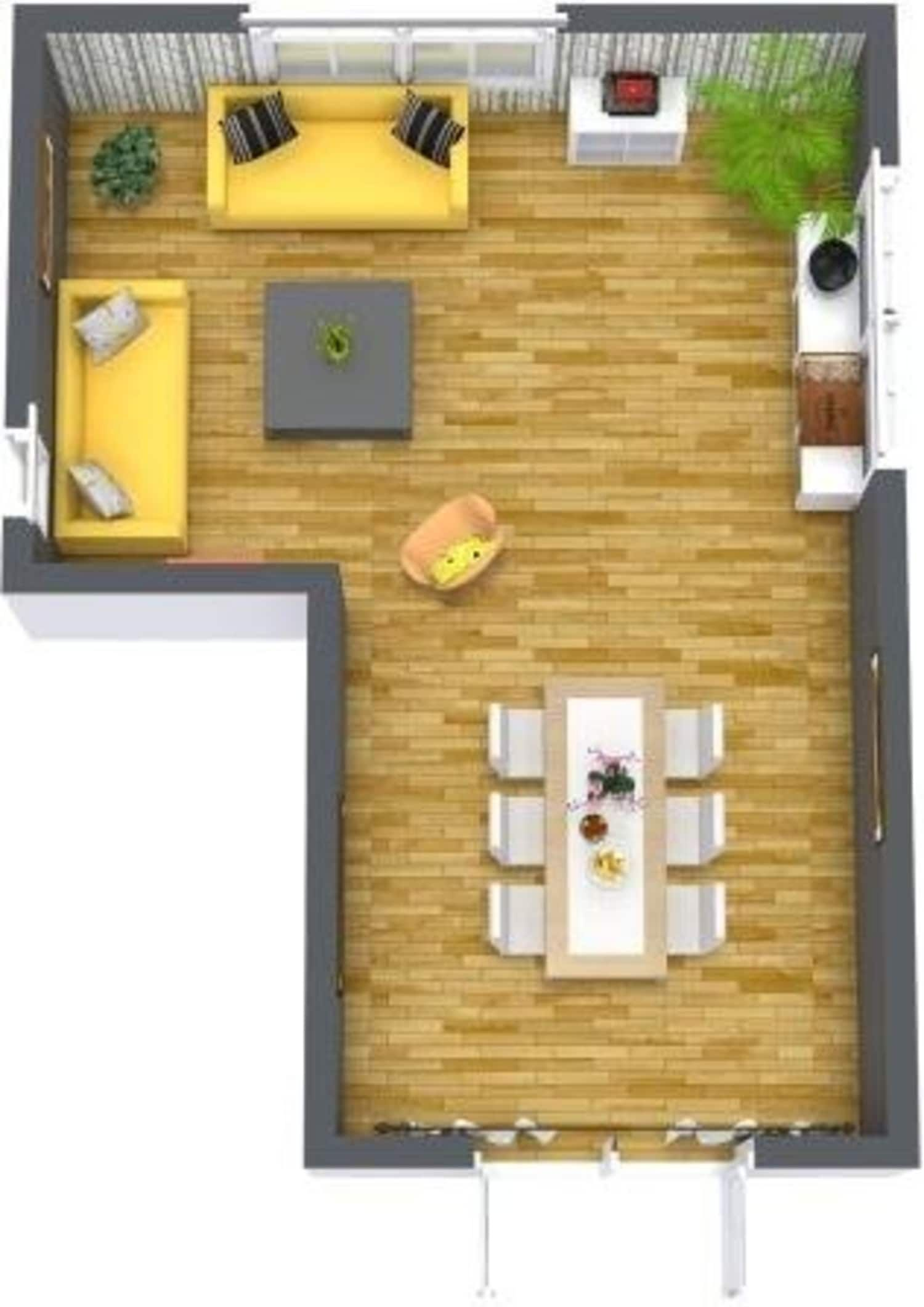 How To Optimize Typical Rental Layouts The L Shaped Living Di