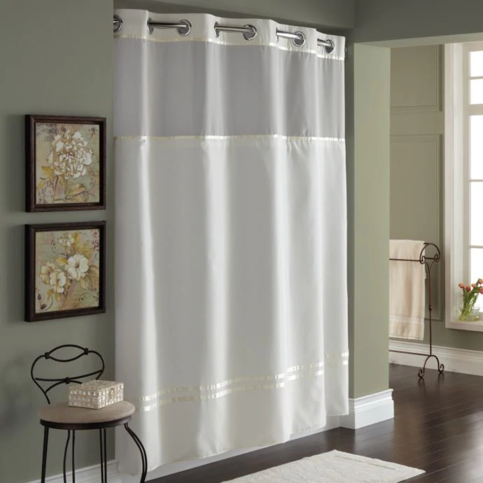 Hookless Escape Fabric Shower Curtain And Liner Set Fabric