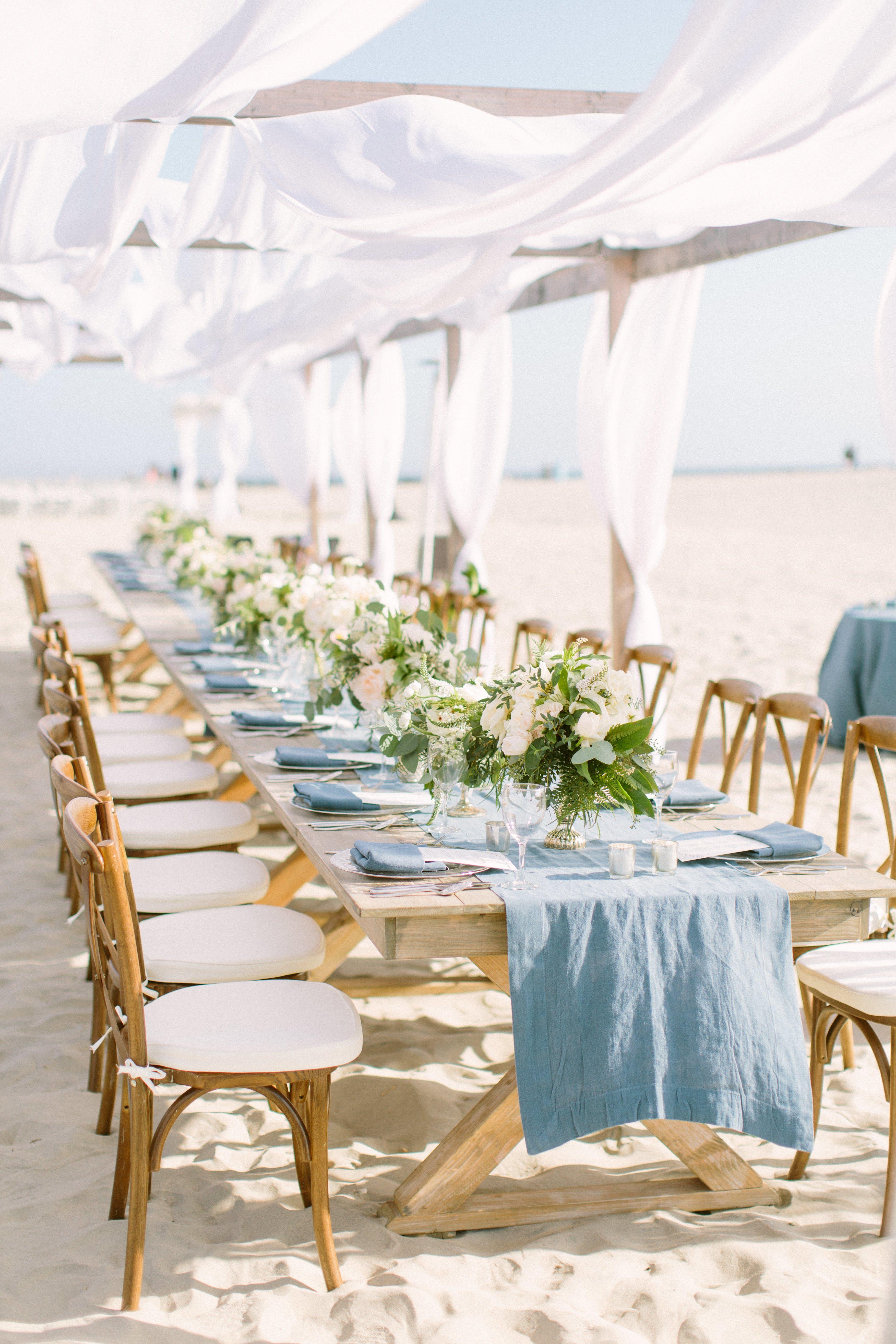 Beachside wedding at hotel del coronado beach wedding