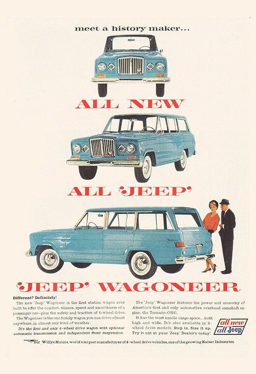 VINTAGE JEEP ADVERTISEMENT Retro Car Ad by EncorePrintSociety