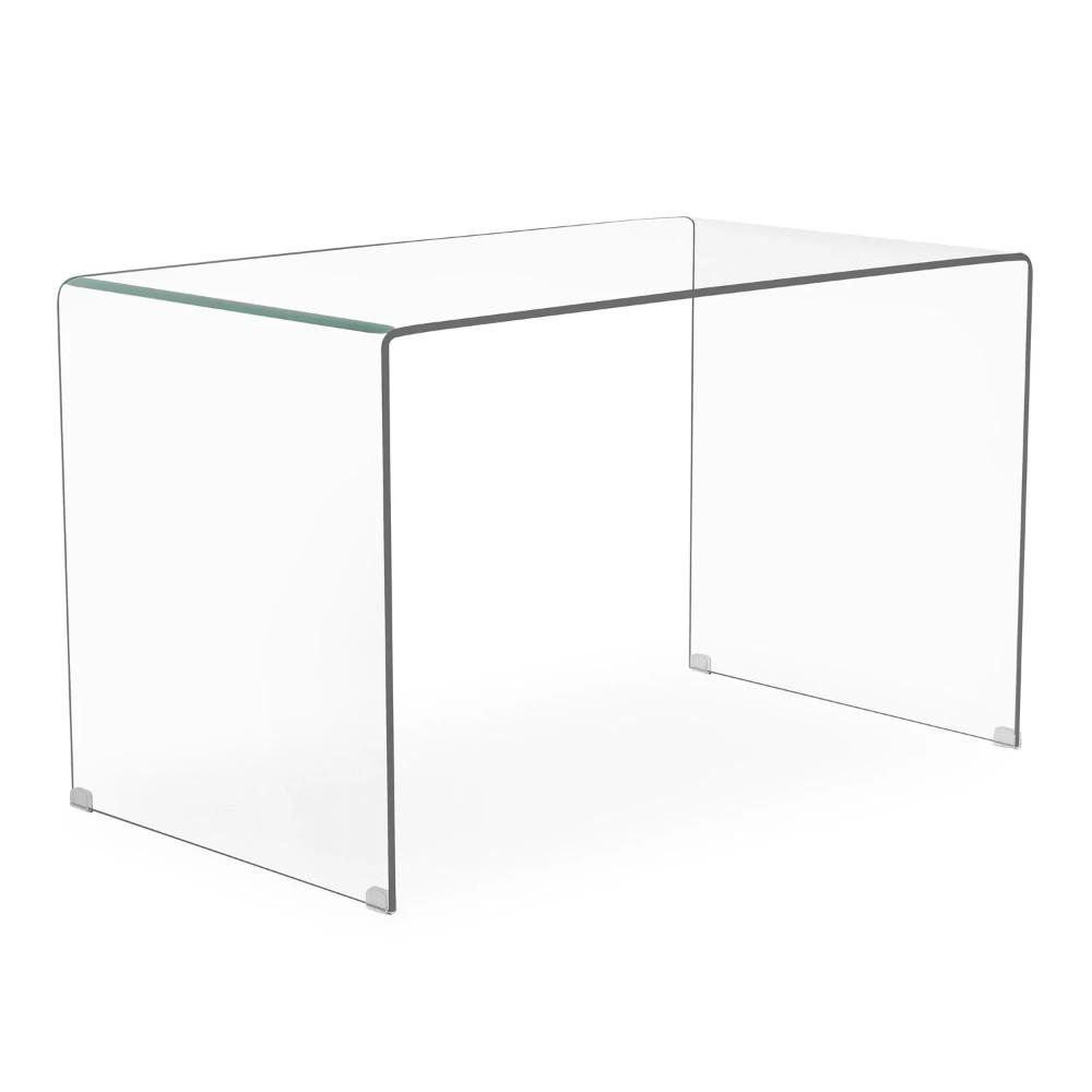 Table De Bureau En Verre Transparent Hista Sklum Bureau En Verre Table Bureau Armoire Design