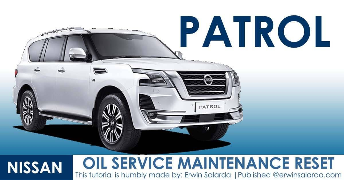 How To Reset Nissan Patrol Maintenance Due In 2020 Nissan Patrol Nissan Service Maintenance