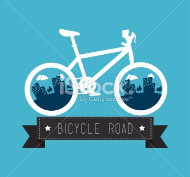 Bike design Royalty Free Stock Vector Art Illustration