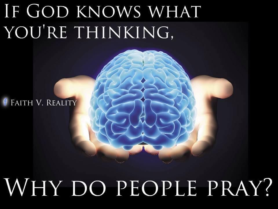 "Good question.  ""The man who prays is the one who thinks that god has arranged matters all wrong, but who also thinks that he can instruct god how to put them right.""  –Christopher Hitchens."