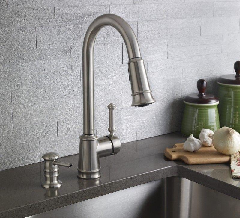Moen 87012srs Lindley Single Handle Pullout Kitchen Faucet