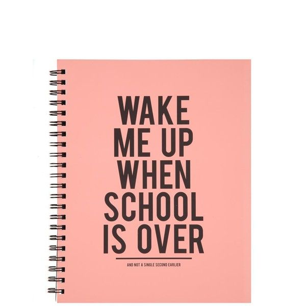 a4 campus notebook ($9.95) ❤ liked on Polyvore featuring home, home decor, stationery, fillers, accessories, notebooks, school, books, text and quotes