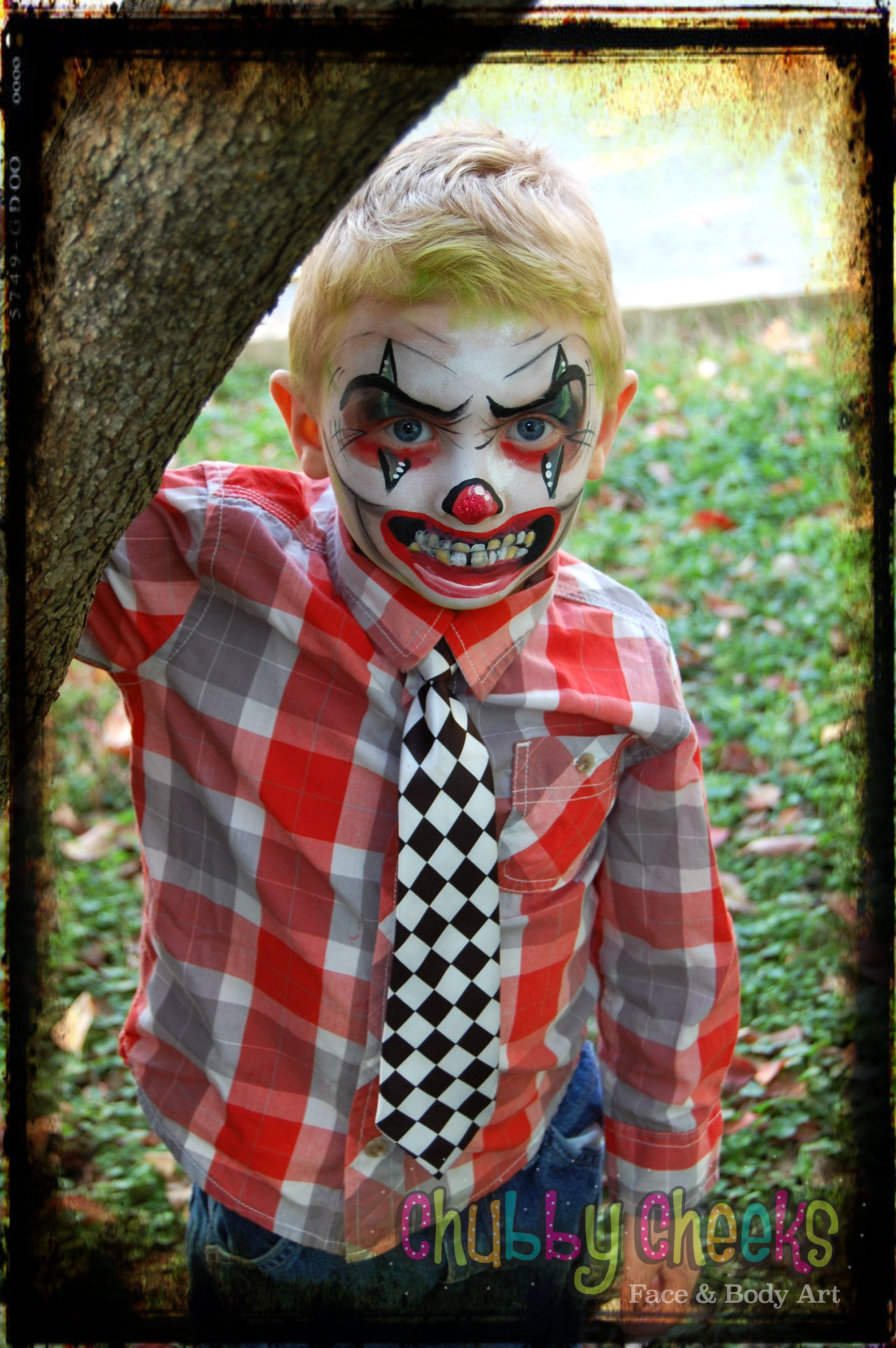 chubbycheeksfaba scaryclown clown scary halloween facepaint indiana face - Halloween Indiana