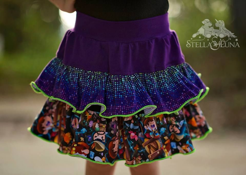 Girl\'s Be Frilly Skirt PDF Sewing Pattern by Ellie and Mac | Girl\'s ...