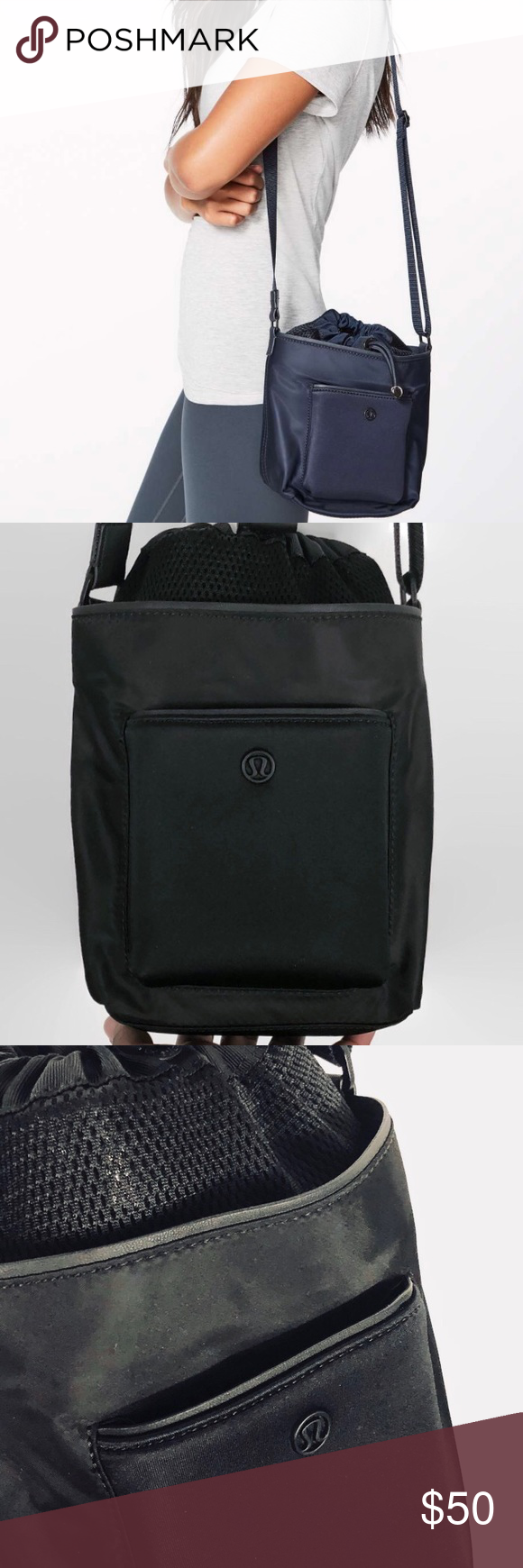 8bee6e63 Lululemon All Set Mini Bucket Bag Black NWOT Lululemon All Set Mini Bucket  Bag Black NWOT - Condition: New Without Tags - Color: Black - Pockets: Yes  ...