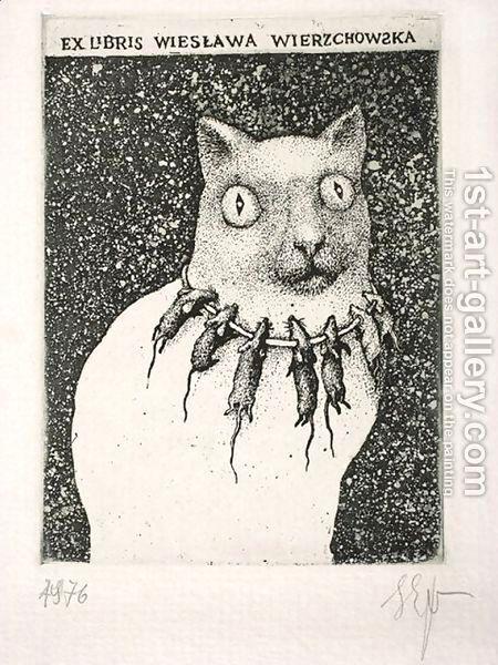 Stasys Eidrigevicius:Ex Libris of Wieslawa Wierzchowska