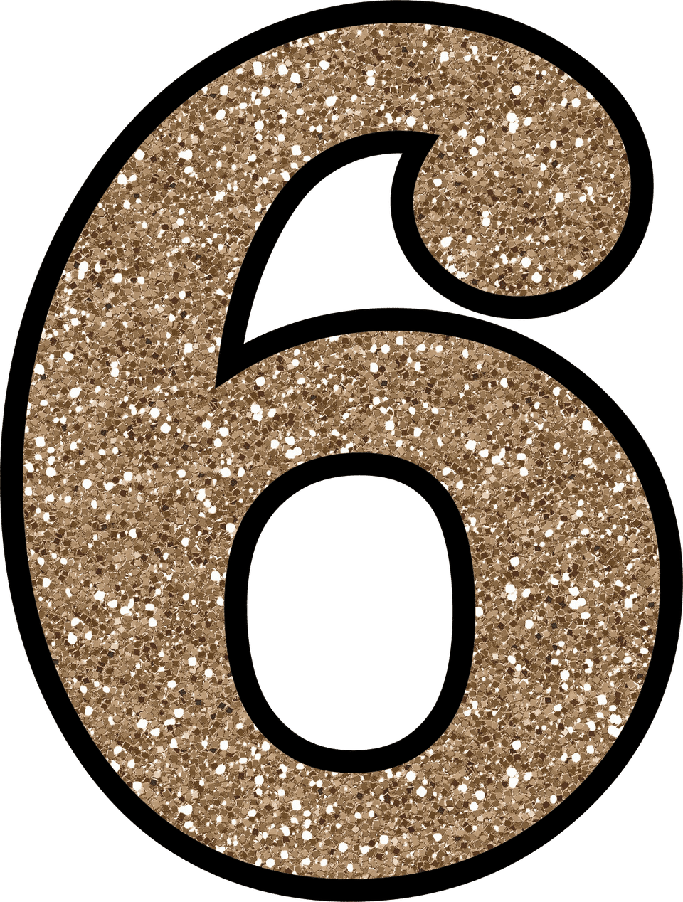 Glitter Without The Mess! Free Digital Printable Glitter Numbers 0 - 9