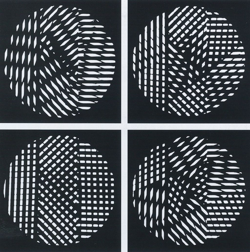 Grazia Varisco, Schema luminoso variabile R.R. 66 (Variable light screen R.R. 66), 1962
