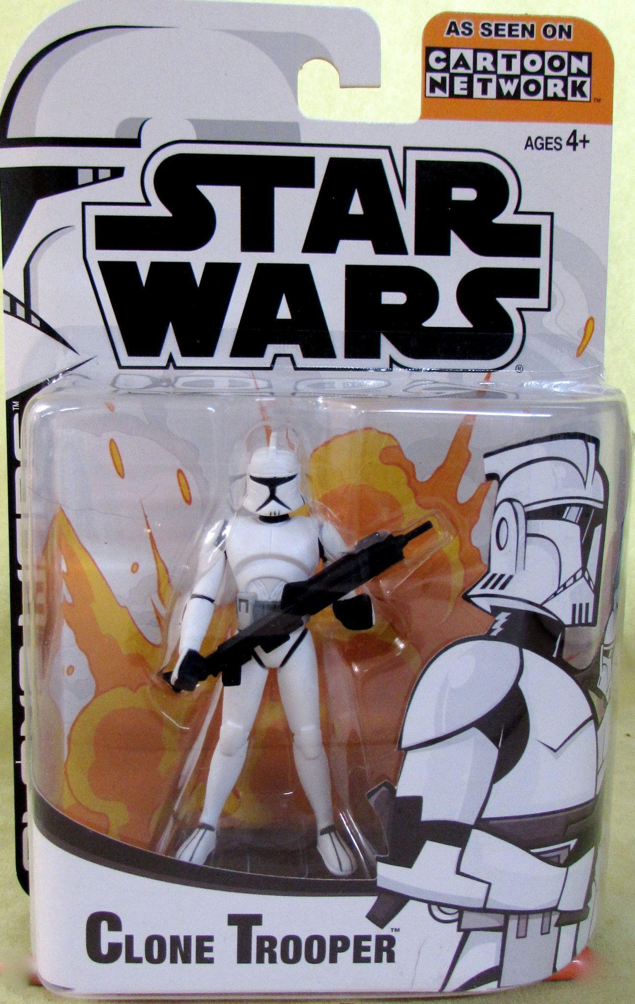 Starwars Clone Wars Clone Trooper Cartoon Network Star Wars Toys Star Wars Figures Clone Trooper