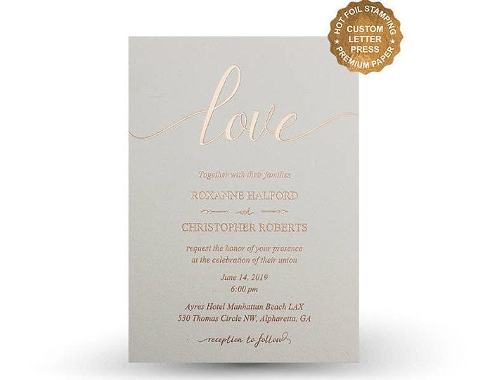 Featured Listing Image Rose Gold Foil Wedding Invitations Hot Foil