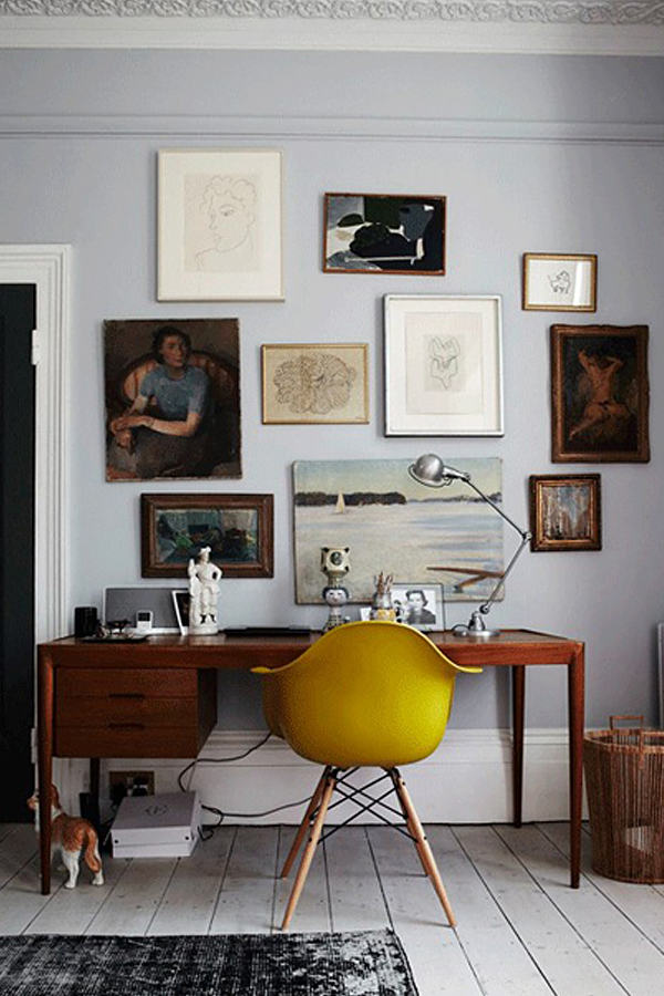 Creating A Vintage Modern Home Office Modern Home Office