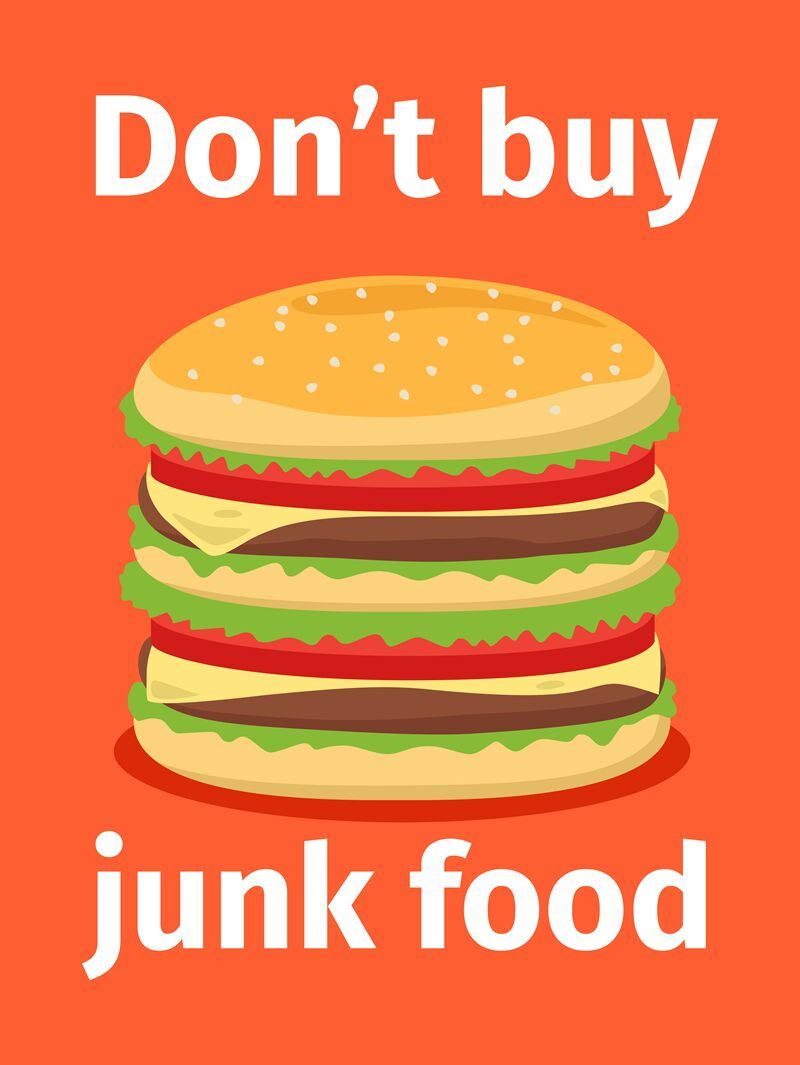 Junk food poster with burger By SmartStartStocker