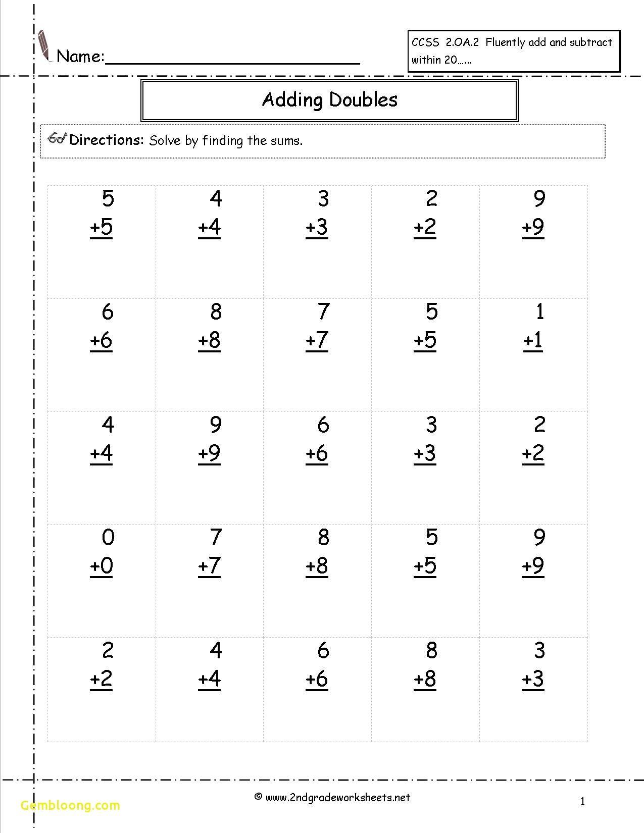 New 3rd Grade Addition Worksheets Worksheet Printable In