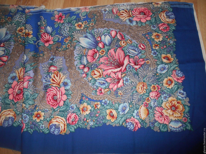Ткань из павлопосадских платков купить нижегородский гипюр купить