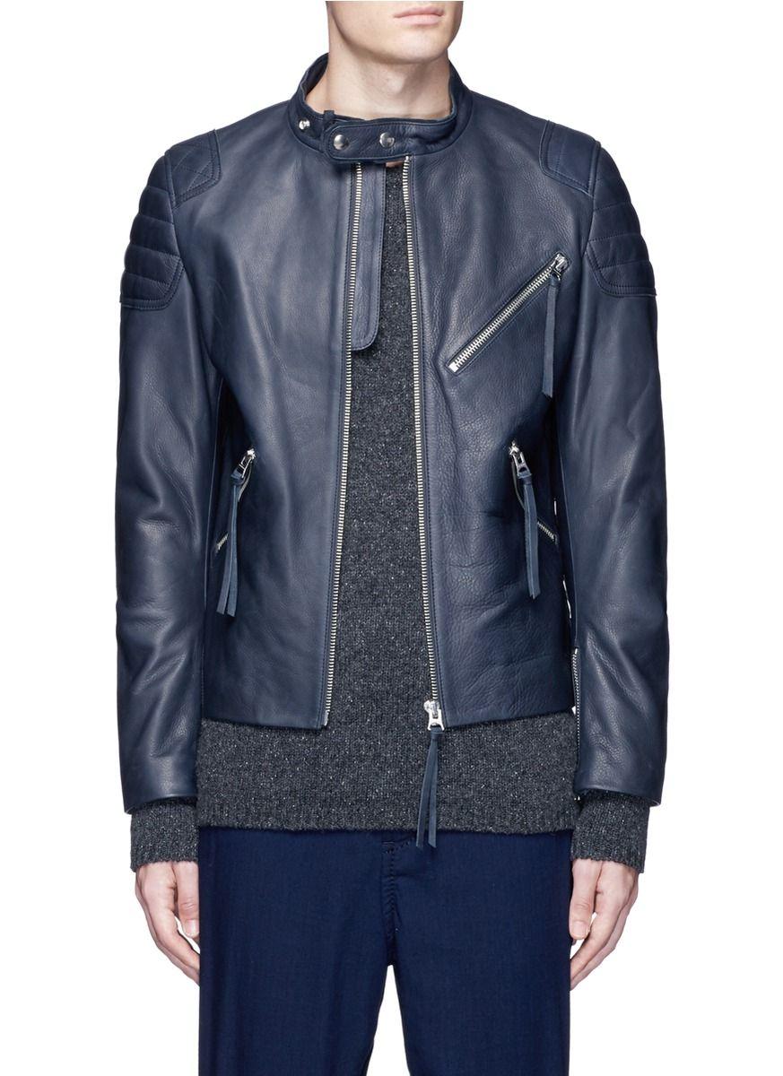 Acne Studios Oliver Quilted Shoulder Leather Moto Jacket Acnestudios Cloth Jacket Leather Moto Jacket Jackets Moto Jacket [ 1200 x 873 Pixel ]