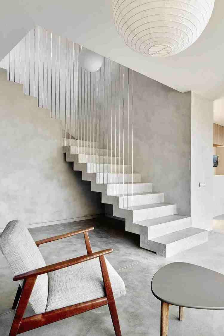 Modern Concrete Staircase A Perfect Solution For Contemporary Interiors In 2020 Concrete Interiors Staircase Decor Contemporary Stairs