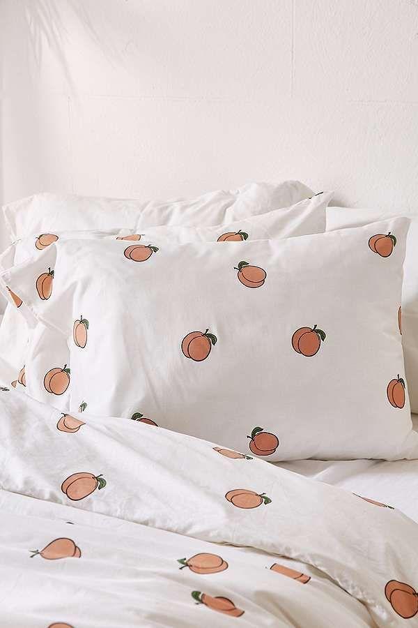 Slide View 4 Peach Duvet Cover Set Modern Bed Linen In