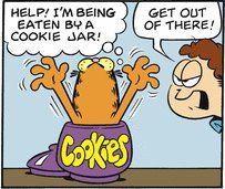 Garfield Cookie Jar Cookie Jar Attack  Comics Phreek Garfield  Pinterest  Cookie