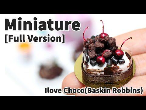 미니어쳐 아이러브초코 케이크 만들기 * 풀버전(Full version) 영상 - Miniature IceCream Choco Cakes - YouTube