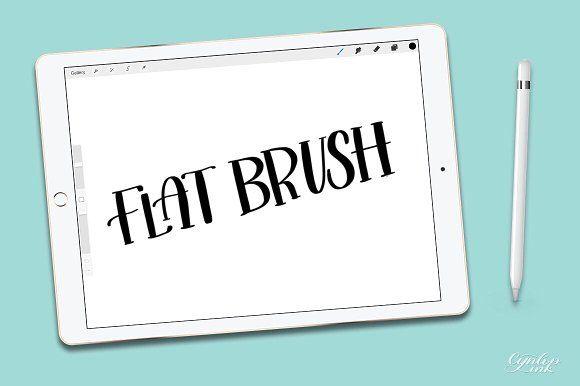 Procreate Brush : Flat Brush @creativework247   Photoshop Brushes