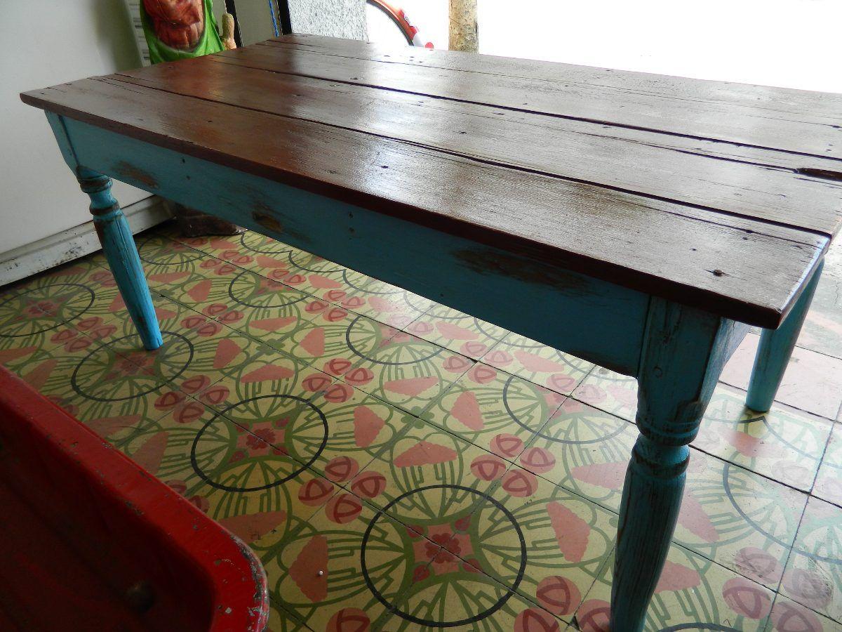 Mesas restauradas con vintage buscar con google - Mesas de comedor restauradas ...