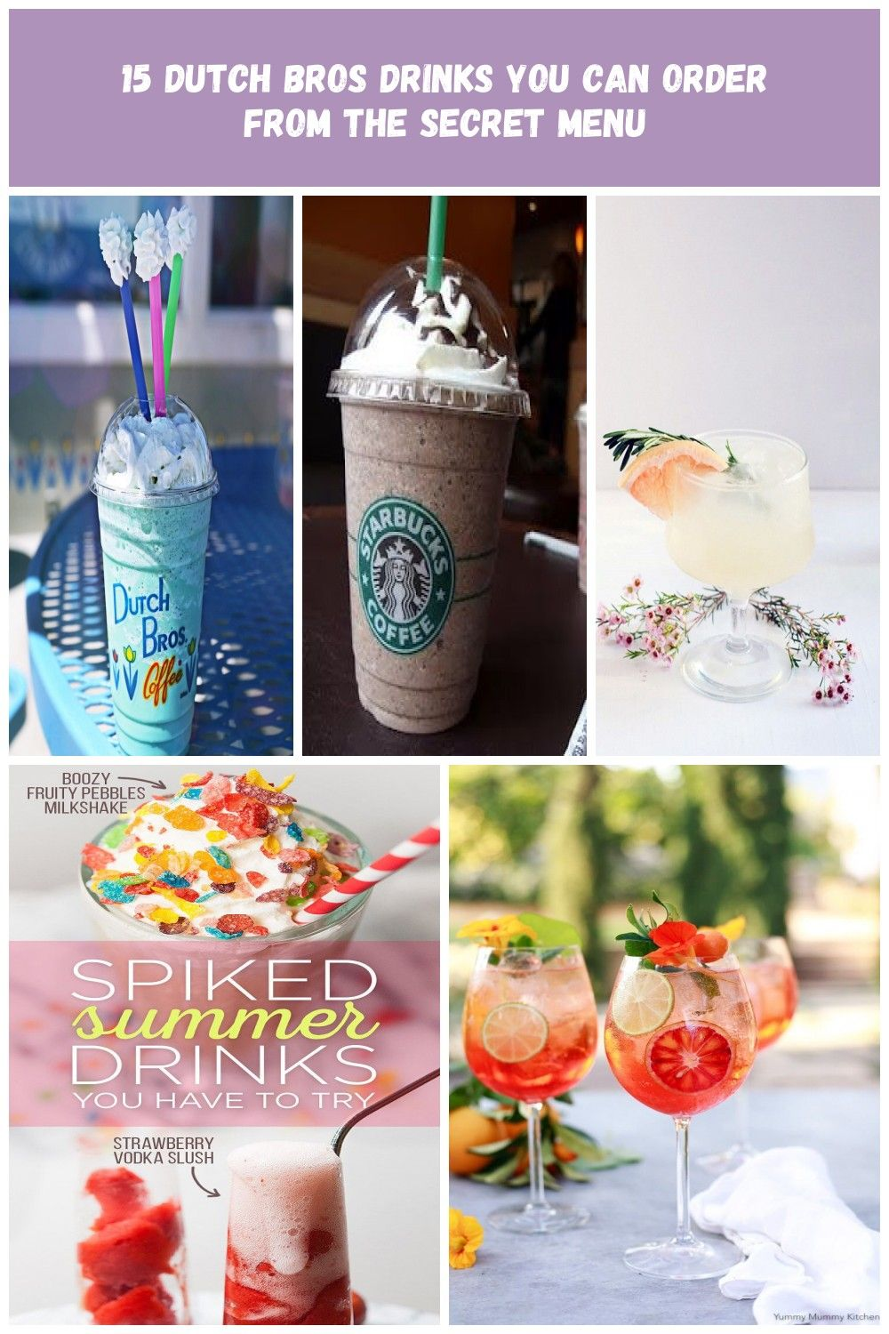 These are the best secret menu drink items to order at Dutch Bros. drink menu 15 Dutch Bros Drinks You Can Order From the Secret Menu #dutchbros