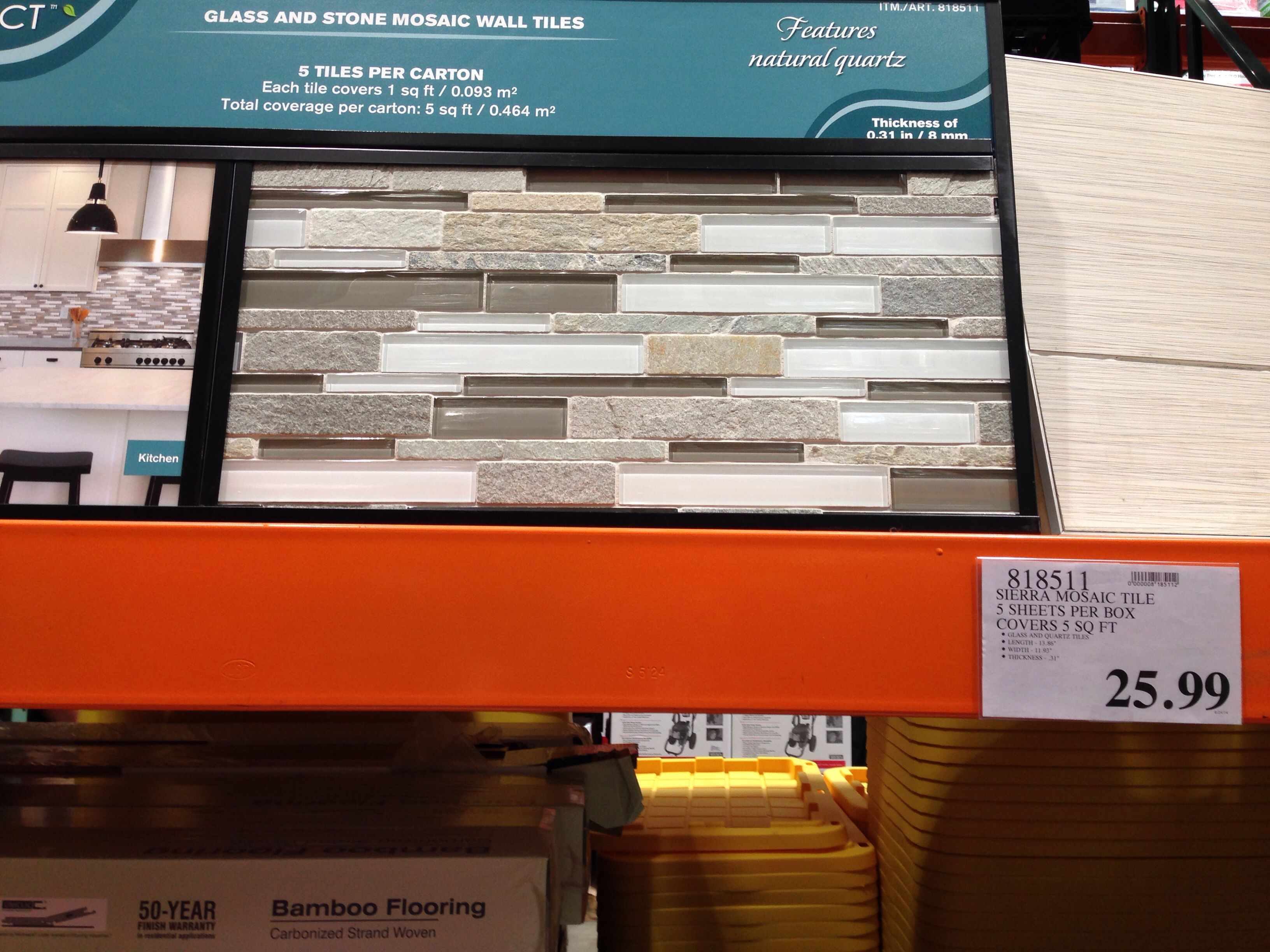 Costco Mosaic Tile For Backsplash With Images Stone Mosaic Wall