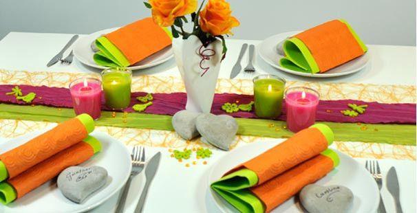 tischdeko orange fuchsia gr n tischdeko geburtstag pinterest tischdeko orange und gr n. Black Bedroom Furniture Sets. Home Design Ideas