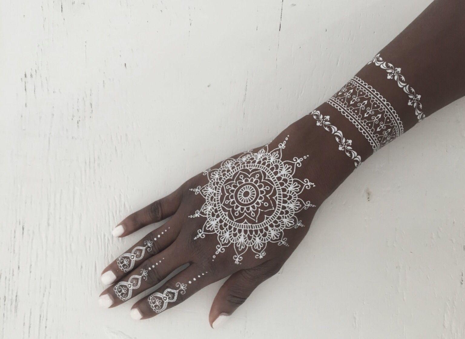 Pinterest darkfrozenocean henna ink print for White henna tattoo ink