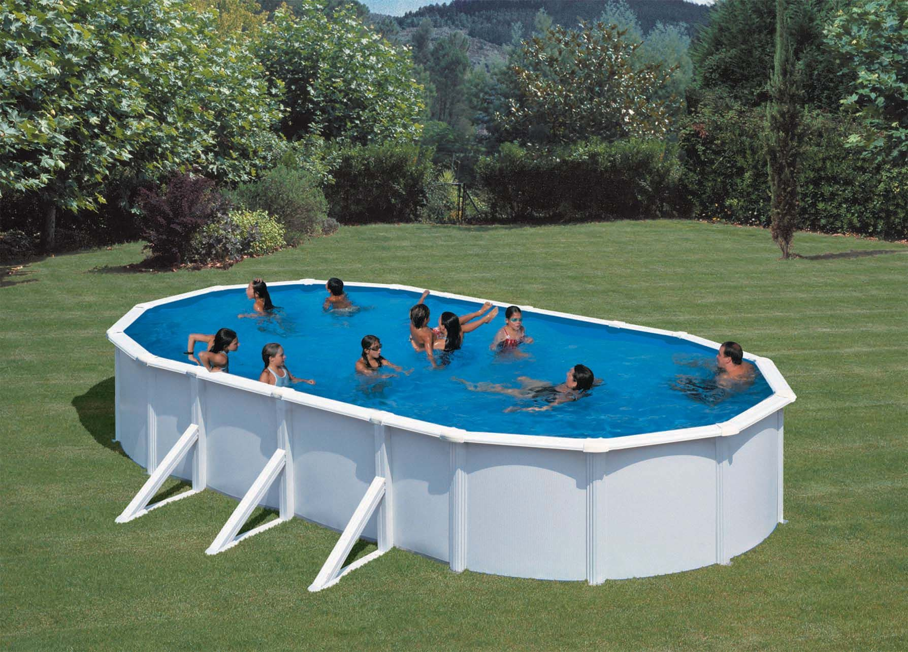 Pool Garten Lustig Pools Oval Steel Pool 730 X 375cm Our Deluxe Gre Steel Pools