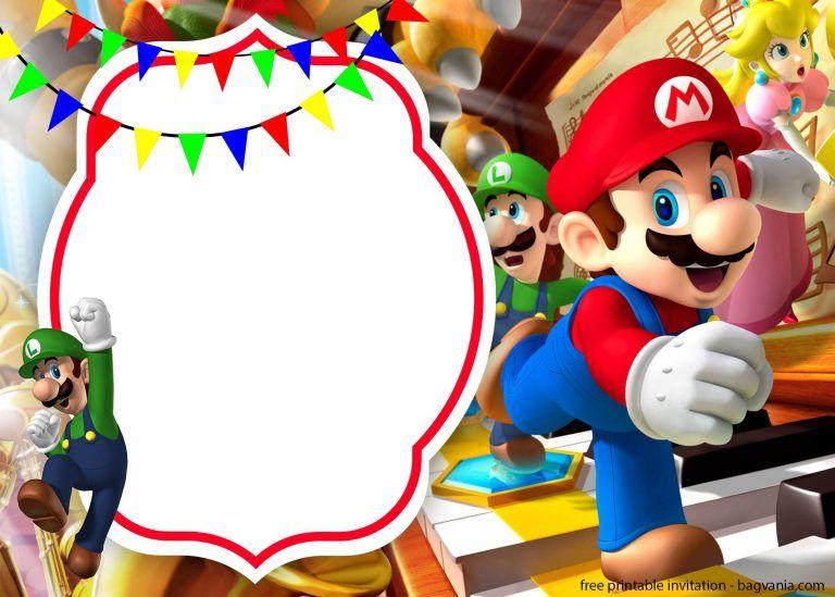 Free Printable Mario Invitation Template FREE Printable