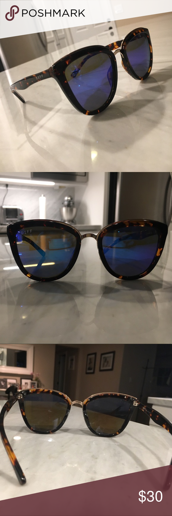 14b0fee2754a8 Diffeyewear sunglasses Jojo fletcher limited edition diffeyewear sunglasses.  Worn a few times. Minor scratches. Comes with case. Diff Eyewear Accessories  ...