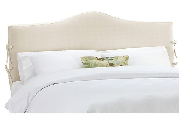 Eloise Slipcover Headboard Talc Linen Headboards For Beds