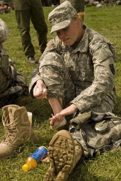 military foot care