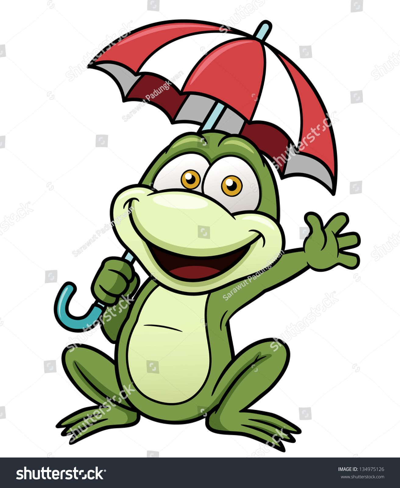 Vector illustration of Frog holding umbrella | AA...KIDS DRAWINGS in ...