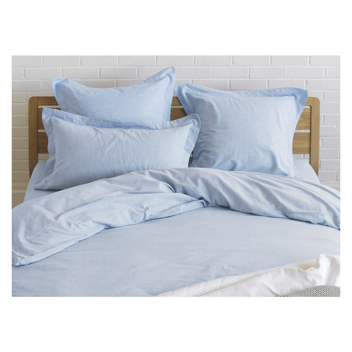 Skye Blue Egyptian Cotton Double Duvet Cover