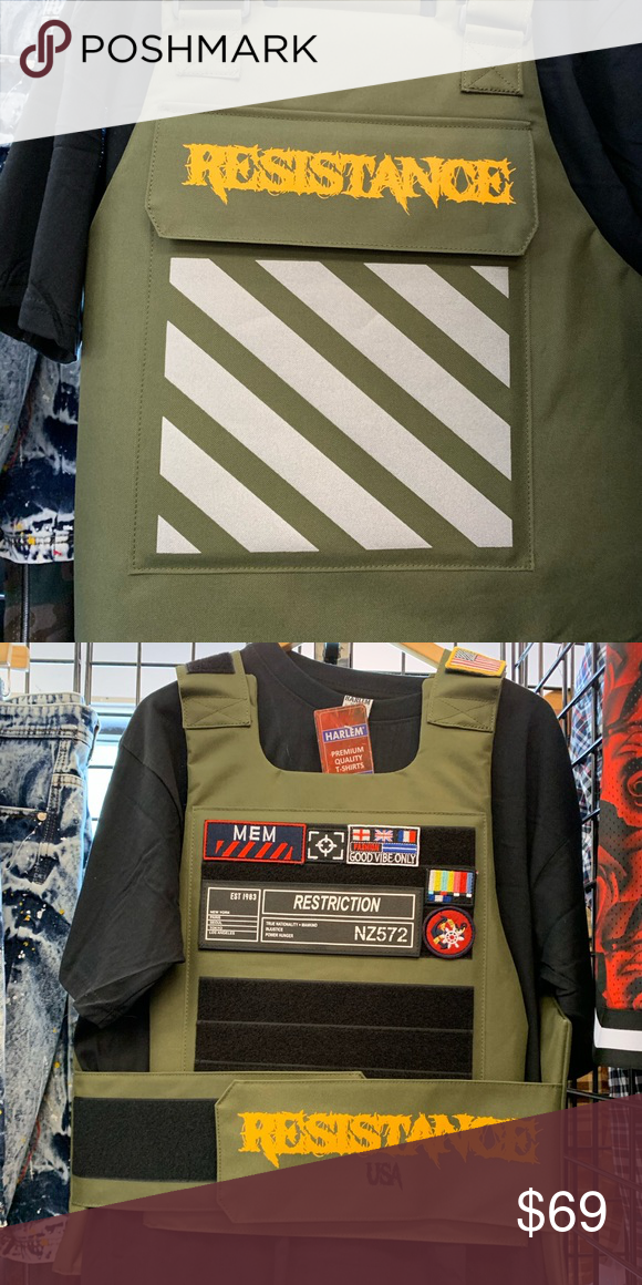 """MENS Vest BULLET PROOF FASHION /""""ICON/"""" STYLE ONE SIZE FIT ALL  TACTICAL VEST"""