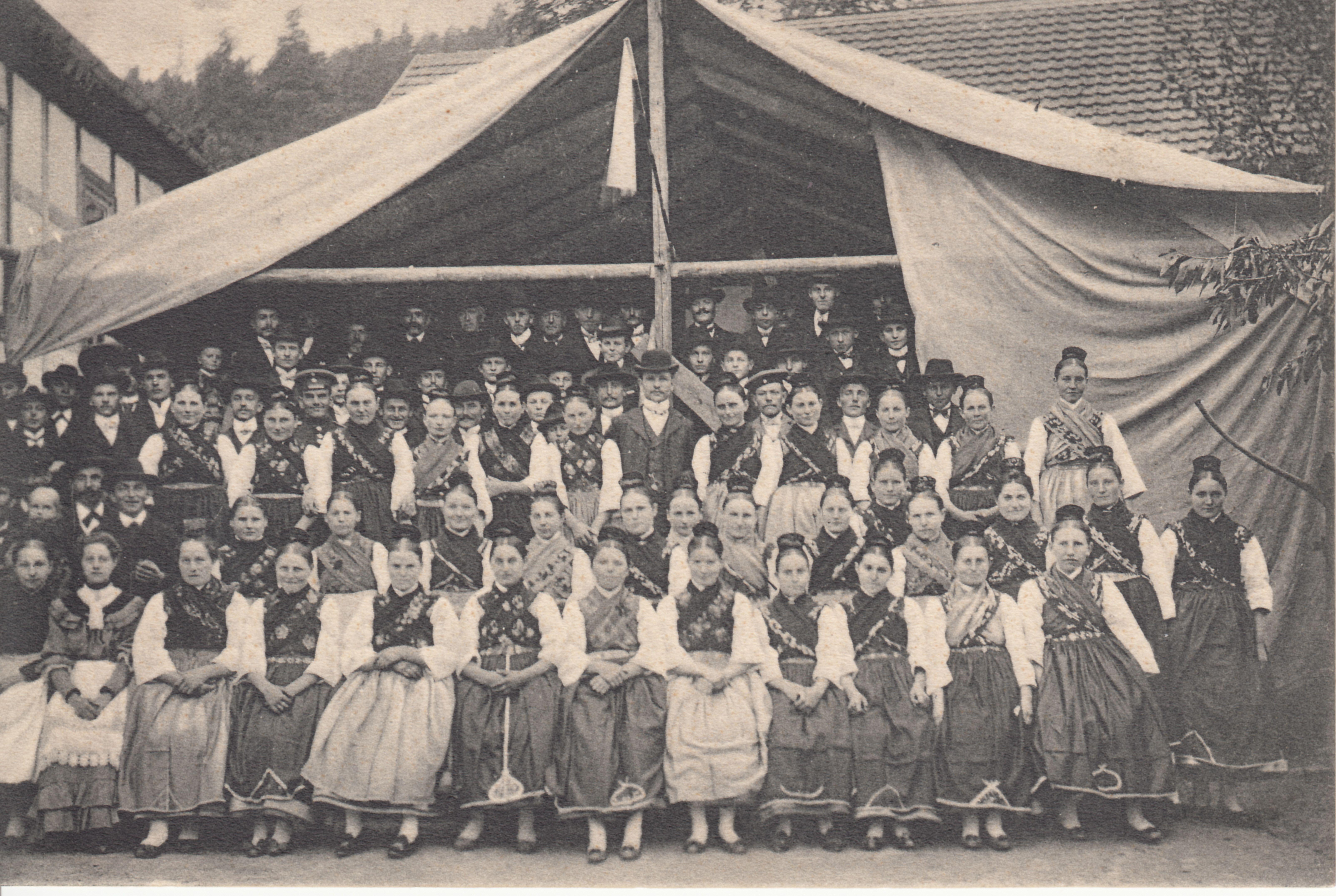 Kirmes Ruhlkirchen 1906 Kirmes