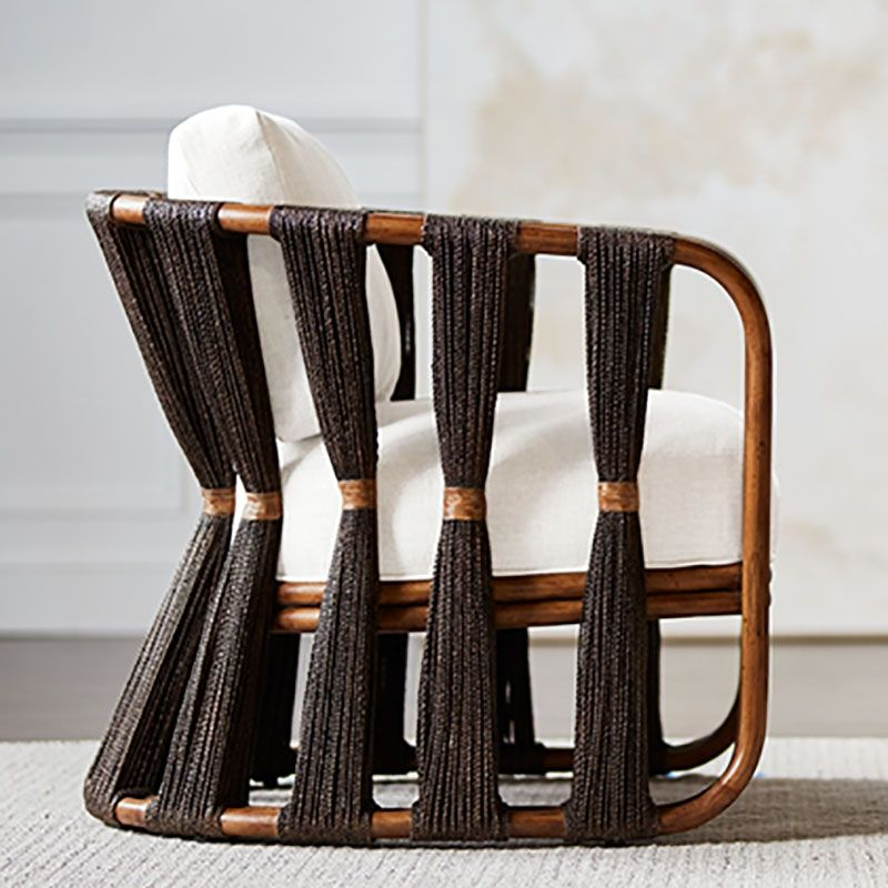 Miraculous Palecek Strings Attached Lounge Chair Dark In 2019 Woven Pabps2019 Chair Design Images Pabps2019Com