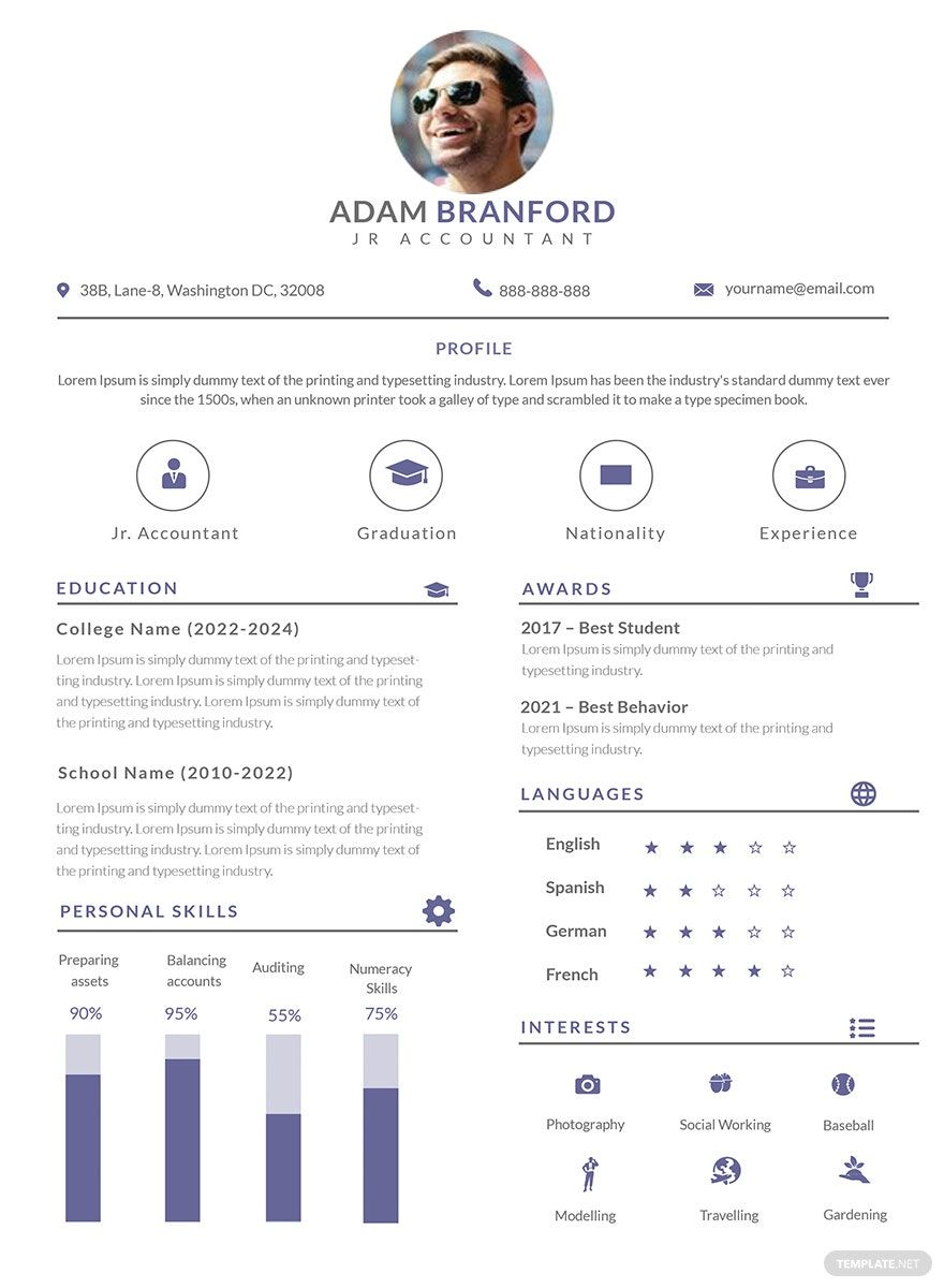 Instantly download free simple junior accountant resume