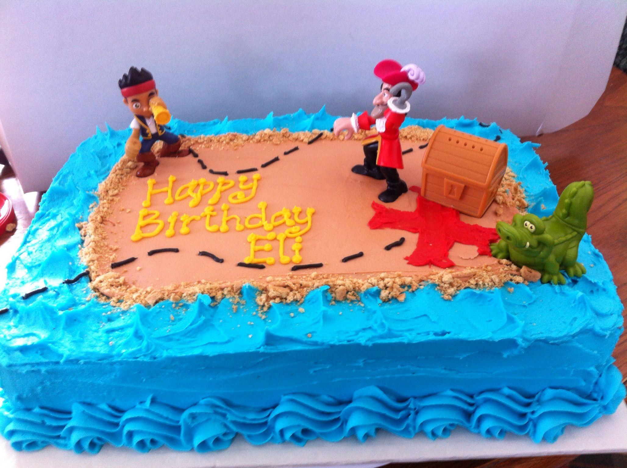 Jake And The Neverland Pirates Cake Birthday Cake Kids Pirate