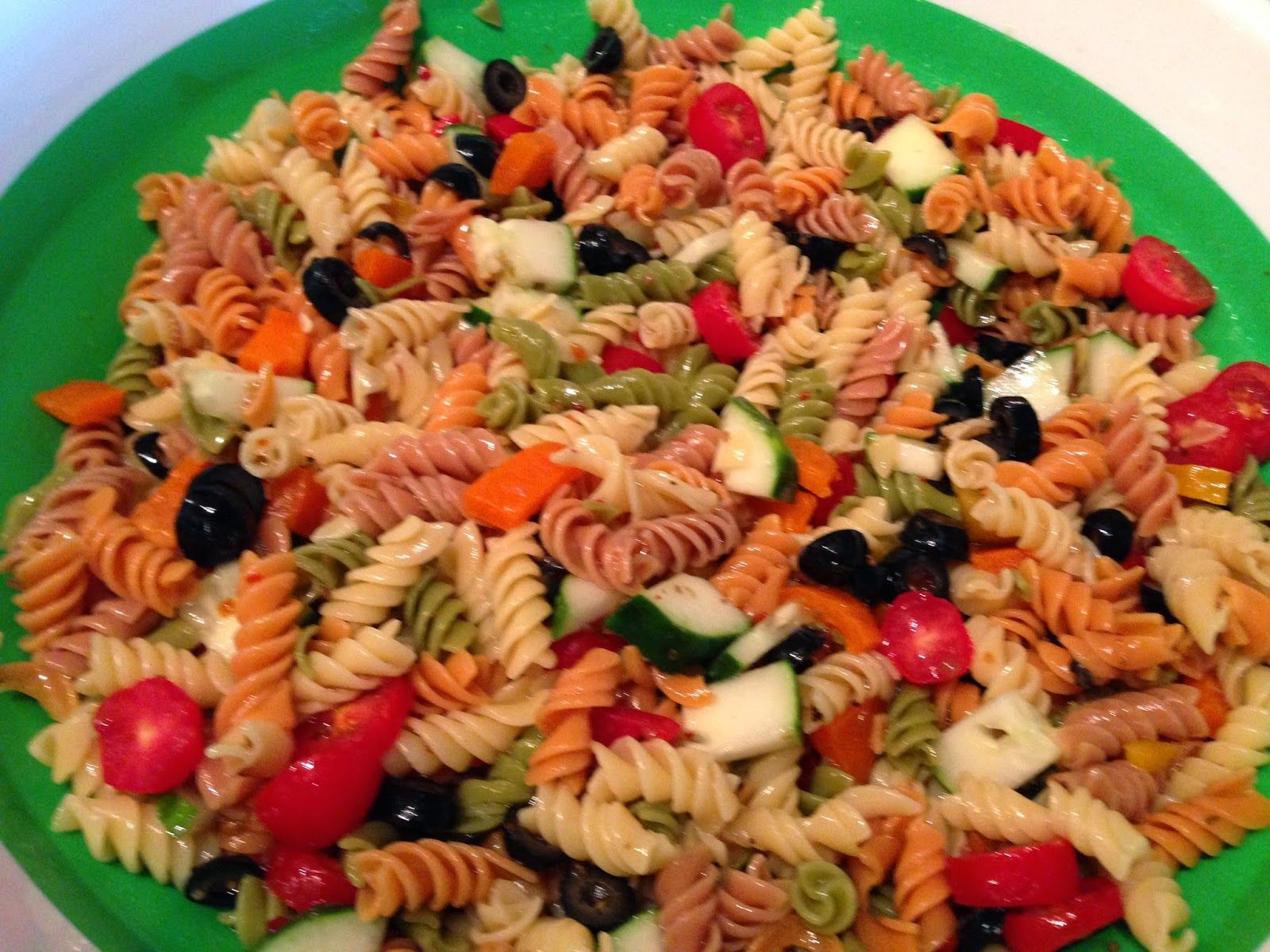 This healthy veggie pasta is a crowd pleaser and I love to bring it for potlucks and family gatherings!  #sicilian-recipes  #sicilia #sicily   #italian-food