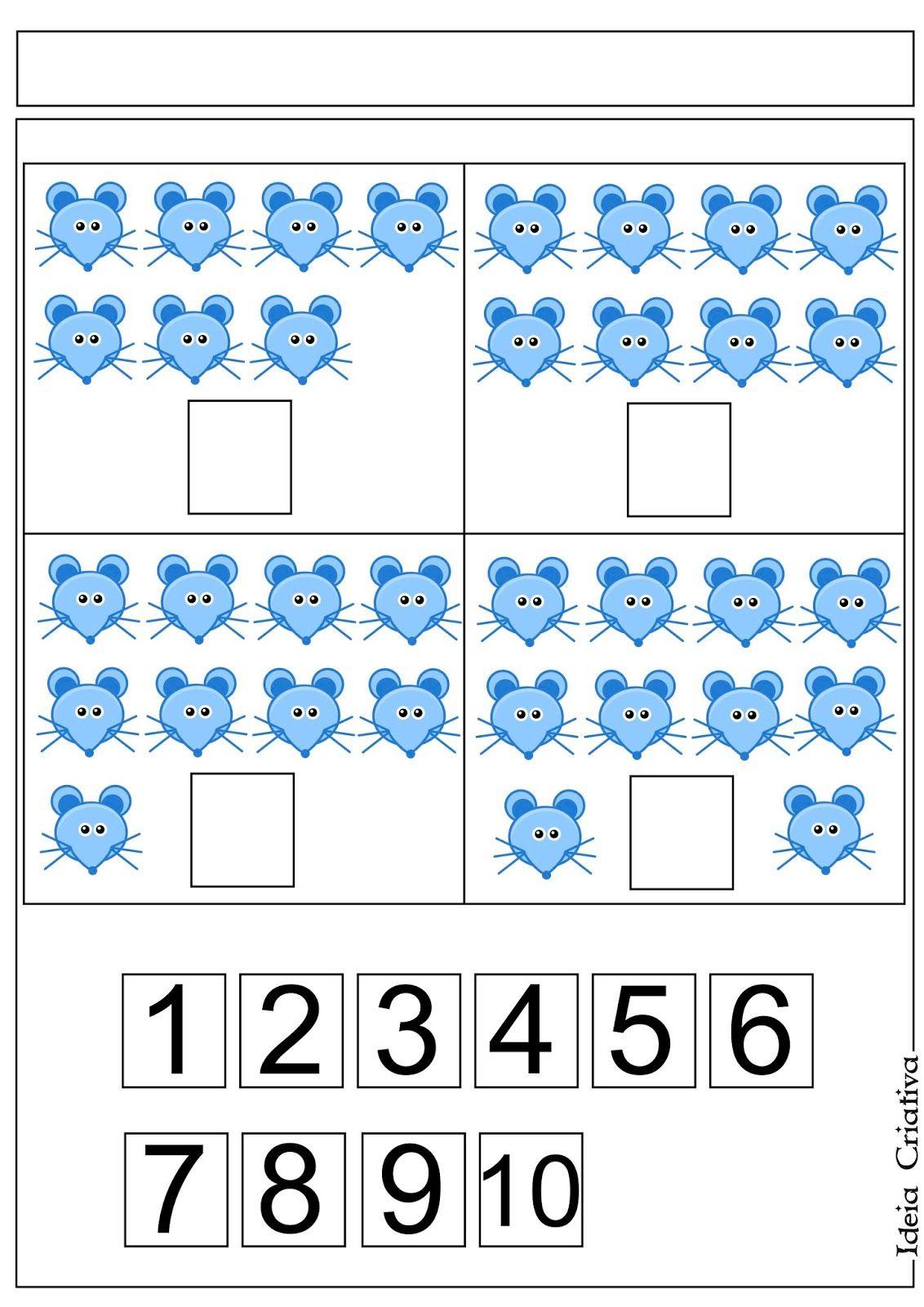 Atividade Para Imprimir Gratis Numero E Quantidade Com Imagens