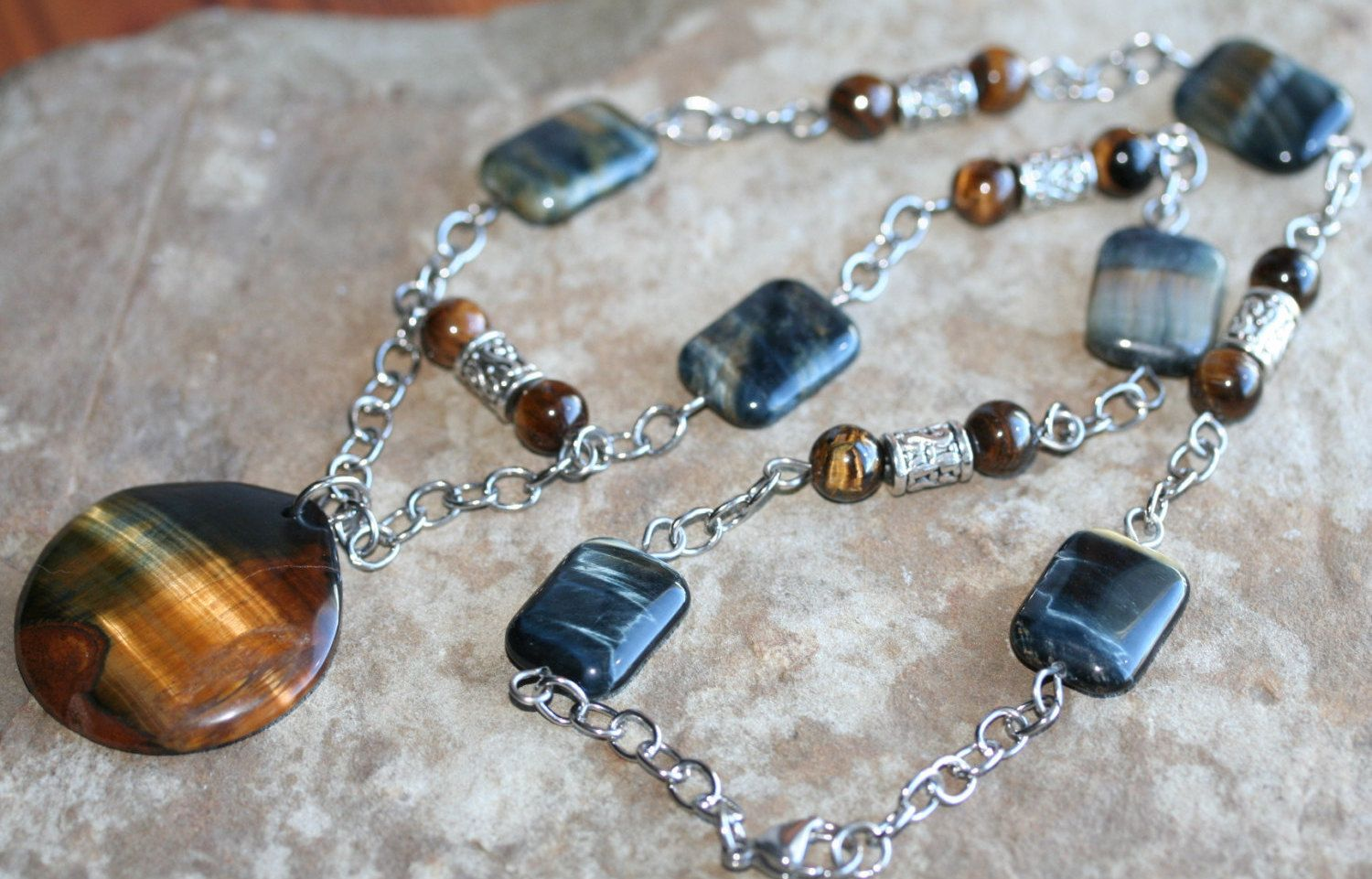 Blue and gold tigers eye gold tigers eye a stone of