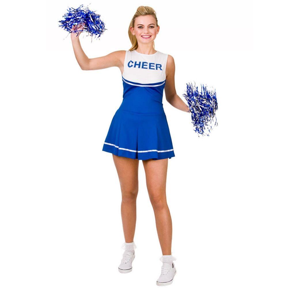 5cabf6c70087 ... cheerleader costumes. Blue high school #cheer#leader costume and pom  poms womens #cheer #leader