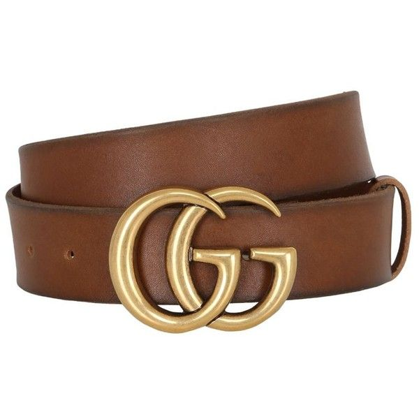 cdefa9f1a50 Gucci Women 40mm Gg Marmont Leather Belt ( 450) ❤ liked on Polyvore  featuring accessories
